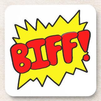 Comic 'Biff!' Coasters