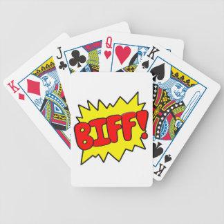 Comic 'Biff!' Poker Deck