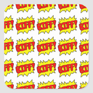 Comic 'Biff!' Stickers