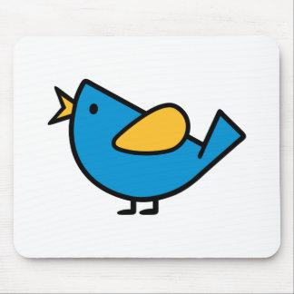 Comic bird mouse pad