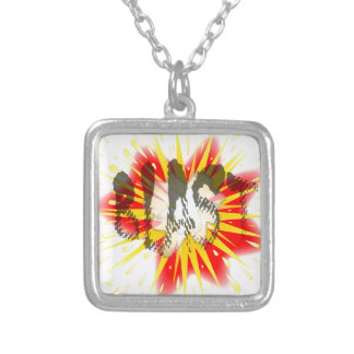 Comic Blast Silver Plated Necklace