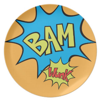 "Comic Book ""Bam"" Balloon Plate"
