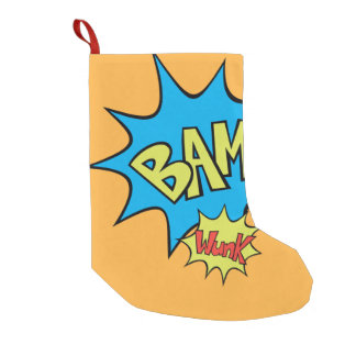 "Comic Book ""Bam"" Balloon Small Christmas Stocking"