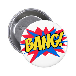 Comic book BANG 6 Cm Round Badge