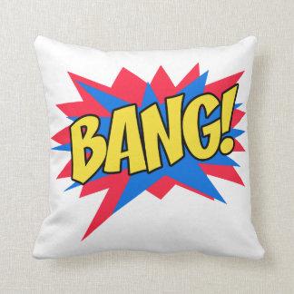 Comic book BANG Throw Pillow