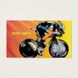 Comic Book Bike Racer Business Cards