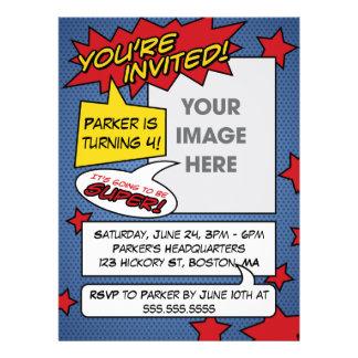 Comic Book Birthday Invitation