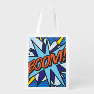 Comic Book BOOM! Reusable Grocery Bag