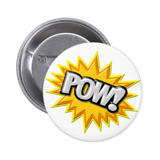 Comic Book Burst Pow 3D Button
