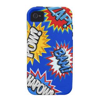 Comic Book Bursts Pow 3D MODIFY COLOR Vibe iPhone 4 Cases