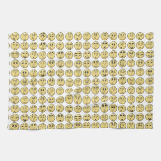 Comic Book Emoji Kitchen Tea Towels