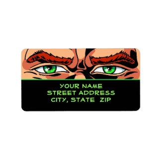 Comic Book Eyes Address Labels