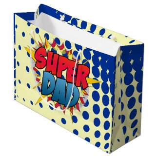 Comic Book Inspired Super Dad Large Gift Bag