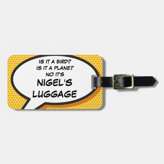 Comic Book IS IT A BIRD? personalised luggage