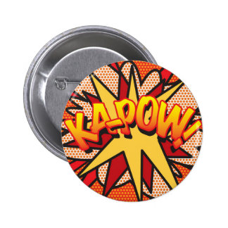 Comic Book KA-POW! 6 Cm Round Badge
