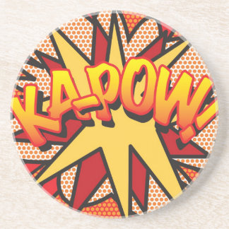 Comic Book KA-POW! Drink Coasters