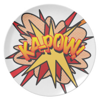 Comic Book KA-POW! Plate