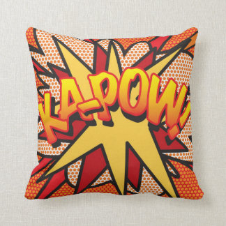 Comic Book KA-POW! Throw Pillow
