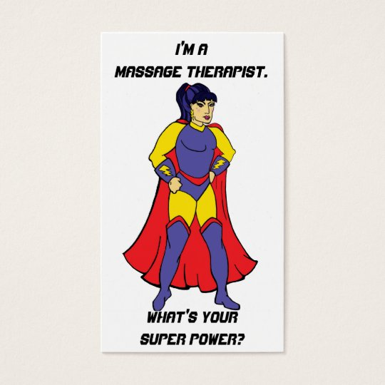 Comic Book Massage Therapy Business Cards