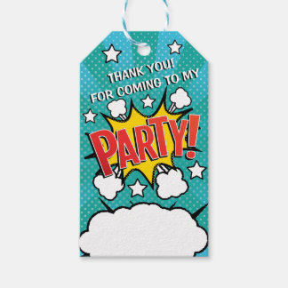 Comic Book PARTY! Gift Tags