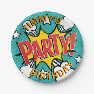 Comic Book PARTY! Paper Plate