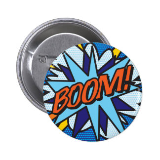 Comic Book Pop Art BOOM! 6 Cm Round Badge