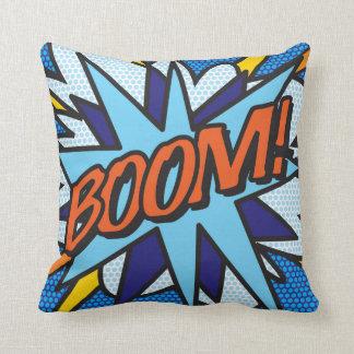 Comic Book Pop Art BOOM! BANG! Throw Pillow