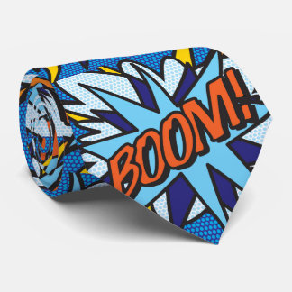 Comic Book Pop Art BOOM Tie