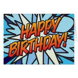Comic Book Pop Art HAPPY BIRTHDAY Card