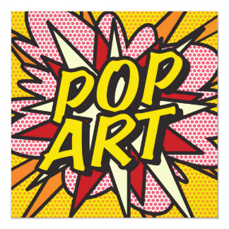Comic Book POP ART Invite