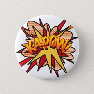 Comic Book Pop Art KA-POW! 6 Cm Round Badge