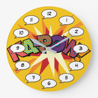 Comic Book Pop Art KA-POW Large Clock