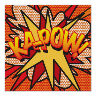 Comic Book Pop Art KA-POW! Poster