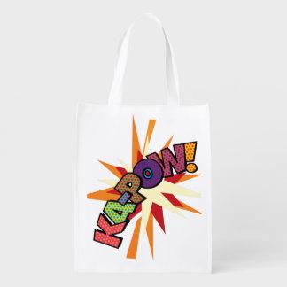 Comic Book Pop Art KA-POW! Reusable Grocery Bag