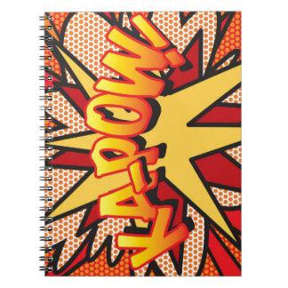 Comic Book Pop Art KA-POW! Spiral Note Books