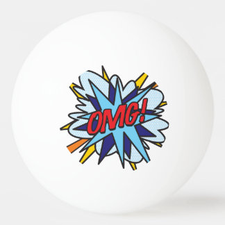 Comic Book Pop Art OMG Ping Pong Ball