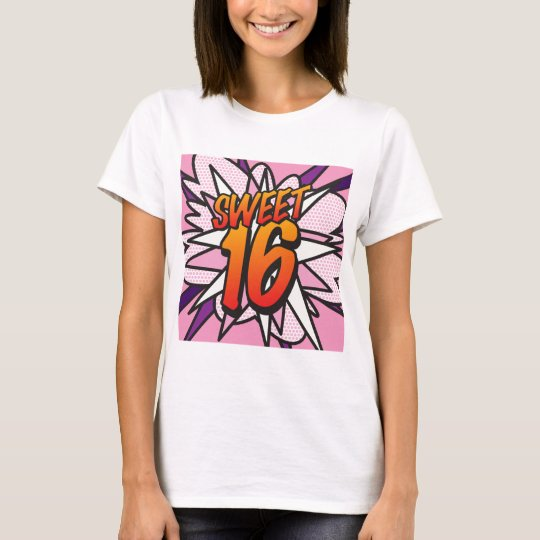 Comic Book Pop Art Pink SWEET 16 BIRTHDAY