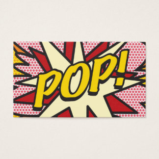 Comic Book Pop Art POP! Business Card