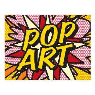 Comic Book POP ART Postcard