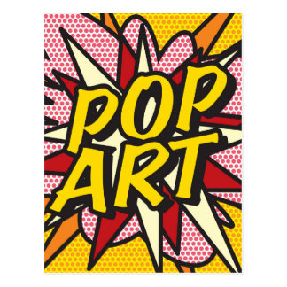 Comic Book POP ART Postcard