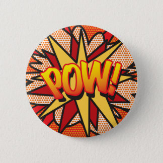 Comic Book Pop Art POW! 6 Cm Round Badge