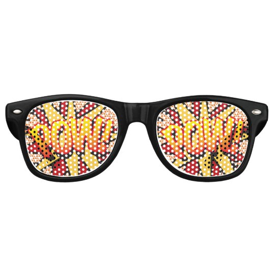 Comic Book Pop Art POW! party sunglasses