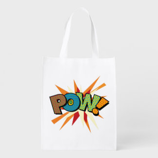 Comic Book Pop Art POW! Reusable Grocery Bag