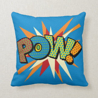 Comic Book Pop Art POW! Throw Pillow