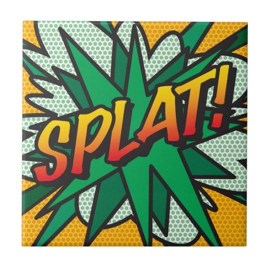 Comic Book Pop Art SPLAT! Small Square Tile