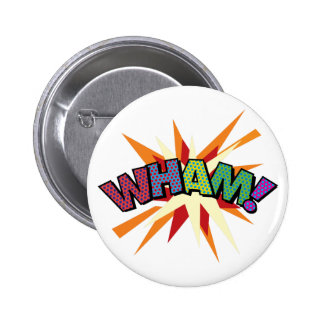 Comic Book Pop Art WHAM! 6 Cm Round Badge