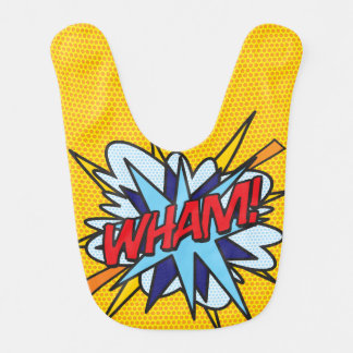 Comic Book Pop Art WHAM Baby Bibs