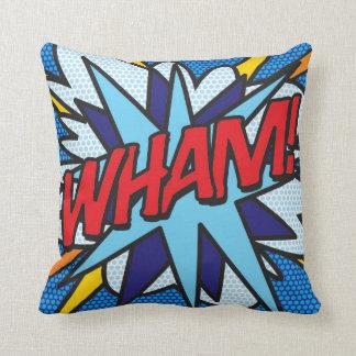 Comic Book Pop Art WHAM! KA-POW! Cushion