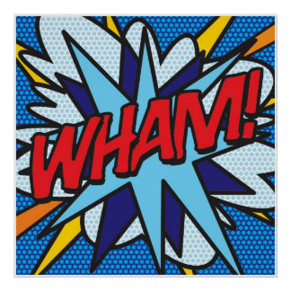 Comic Book Pop Art WHAM! Poster