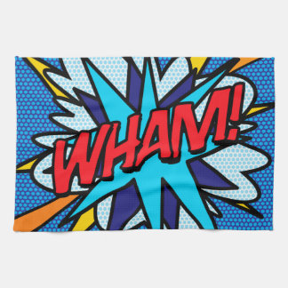 Comic Book Pop Art WHAM! Tea Towel
